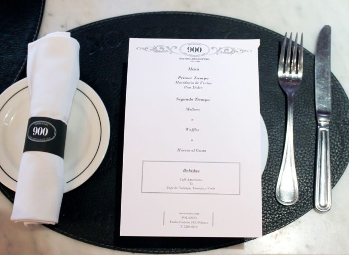 MENU FASHION BRUNCH